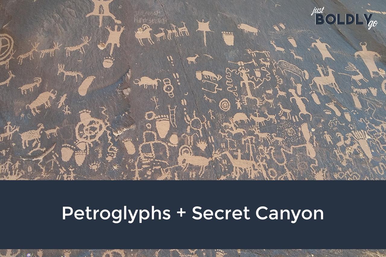 Petroglyphs + Secret Canyon