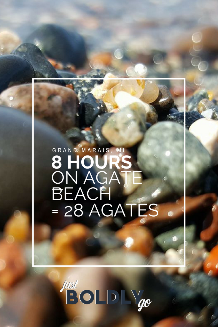8 Hours on Agate Beach = 28 Agates