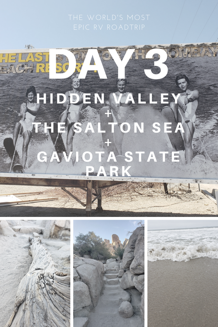 Day 3 – The World's Most Epic RV Road Trip – Hidden Valley Hike + The Salton Sea